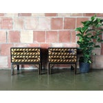 Image of Black & Gold Asian End Tables - A Pair
