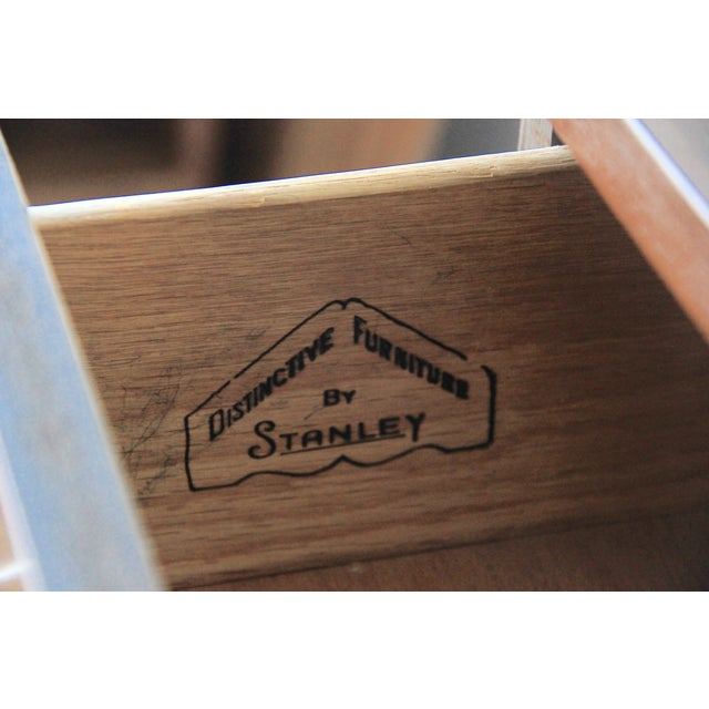 Image of Vintage Mid Century Stanley Tall Highboy Dresser