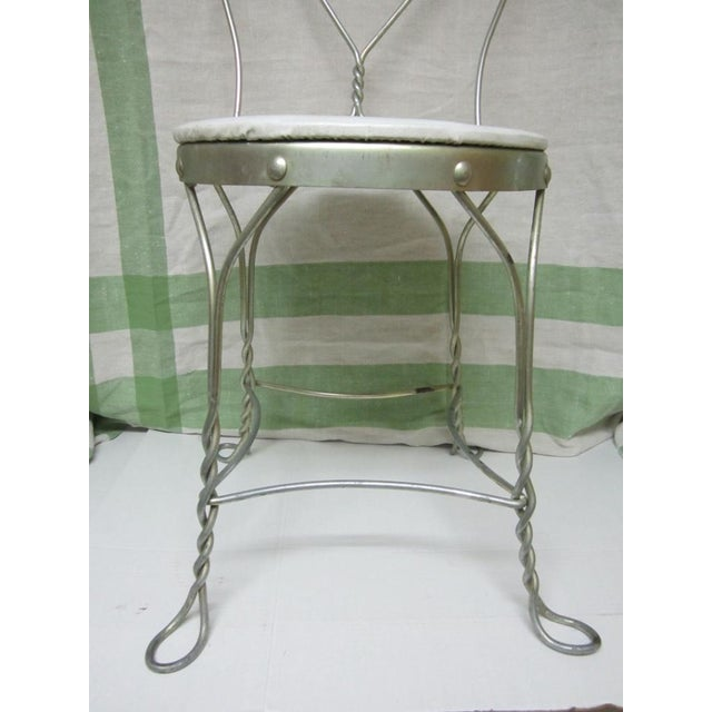 Image of Vintage Metal Ice Cream Parlor Chair with Heart