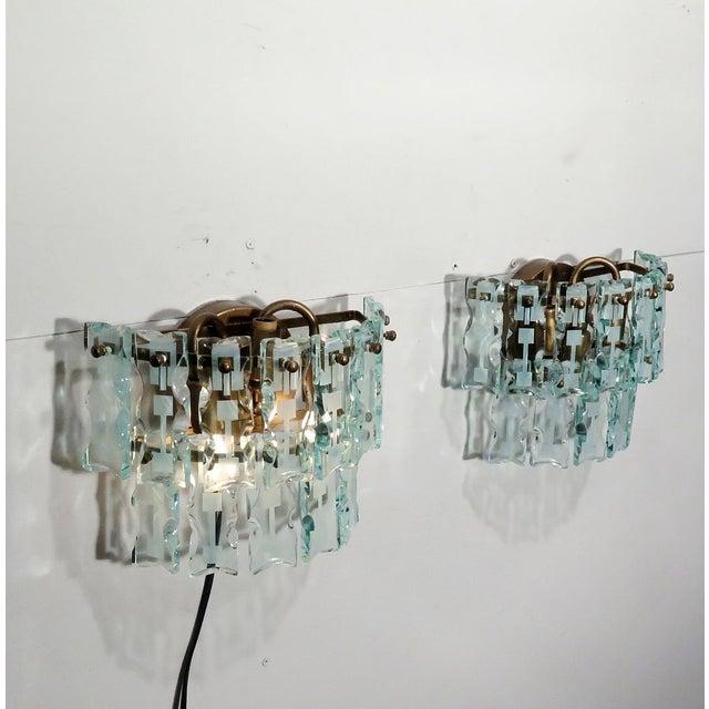 Mid-Century 3 Light Sconces - A Pair - Image 8 of 9