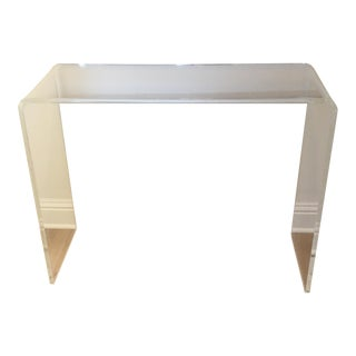 Acrylic/Lucite Waterfall Console Table