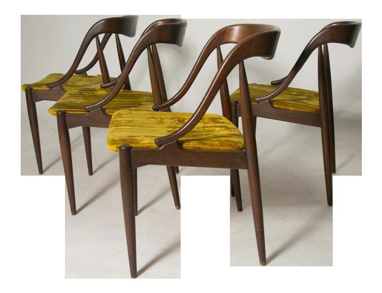 Johannes Andersen Teak Dining Chairs   Set Of 4
