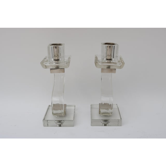 Polished Chrome Trim Candle Holders - A Pair - Image 5 of 9