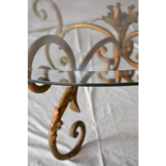 Vintage Italian Gilded Base Cocktail Table - Image 5 of 6