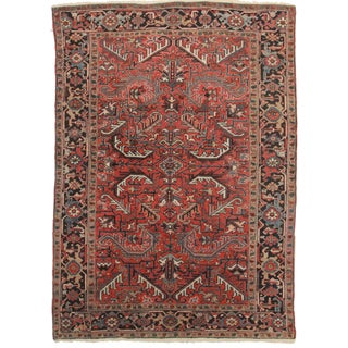 Hand-Knotted Wool Persian Hariz Rug - 7′ × 10′