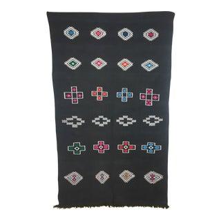 Charcoal Moroccan Motif Rug - 4′2″ × 7′