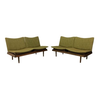 Gerald McCabe Olive Modular Settees - a Pair
