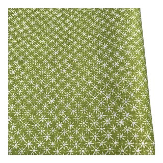 3 Yards Quadrille Balinese Star Green Bolt Linen Fabric