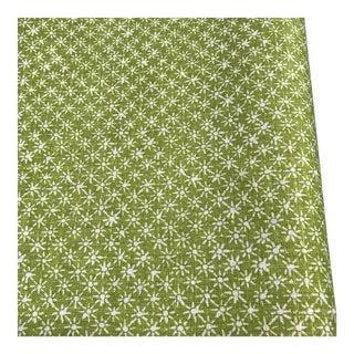 Quadrille Balinese Star Green Bolt Linen Fabric
