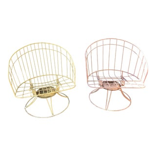 Mid-Century Metal Bouncer Chairs - A Pair