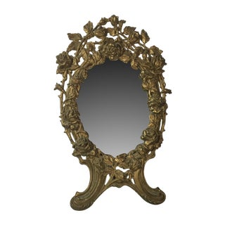 Victorian Italian Bronze Mirror
