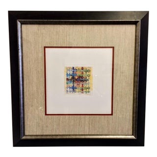 Fabric Design Signed and Framed Print