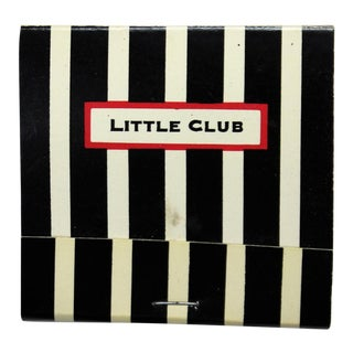 Little Club Black & White Stripe Matchbook
