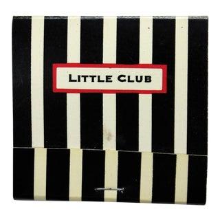 Little Club Black & White Stripe Matchbook