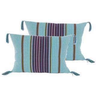 Mayan Tassels Pillow Covers - a Pair