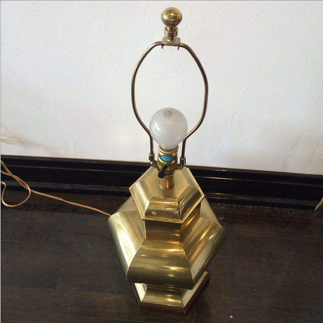 Frederick Cooper Hollywood Regency Brass Lamp - Image 2 of 8