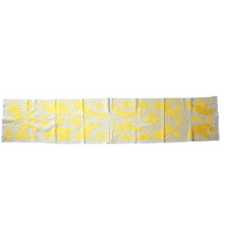 Mexican Hand-Woven Yellow Tenango Table/Bed Runner