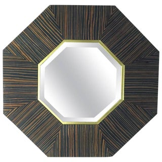 French Art Deco Macassar Ebony Mirror