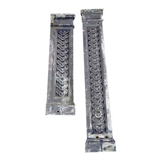Pair of Cast Iron Highly Decorative Pilasters