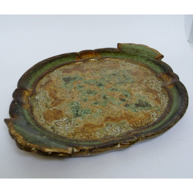 Florentine Gesso And Wood Tray - Image 4 of 8