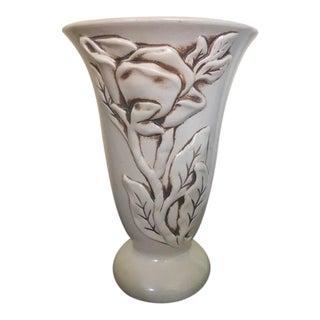 """1940s Red Wing """"Magnolia"""" Vase"""