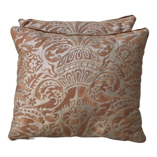 Fortuny Bronze Pillows - a Pair