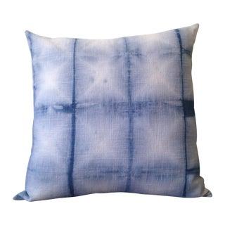 Indigo Shibori Hand Dyed Pillow Cover