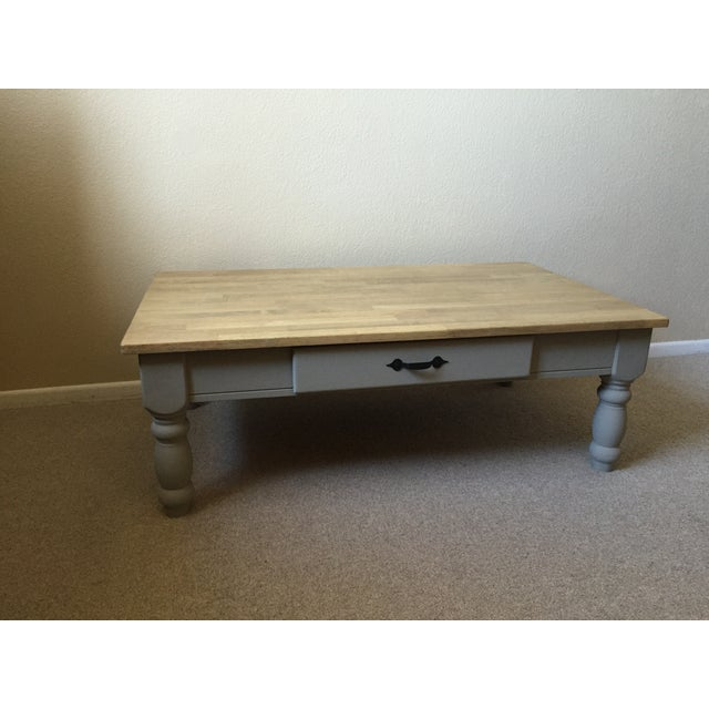 Modern farmhouse restored coffee table chairish for Modern farmhouse coffee table