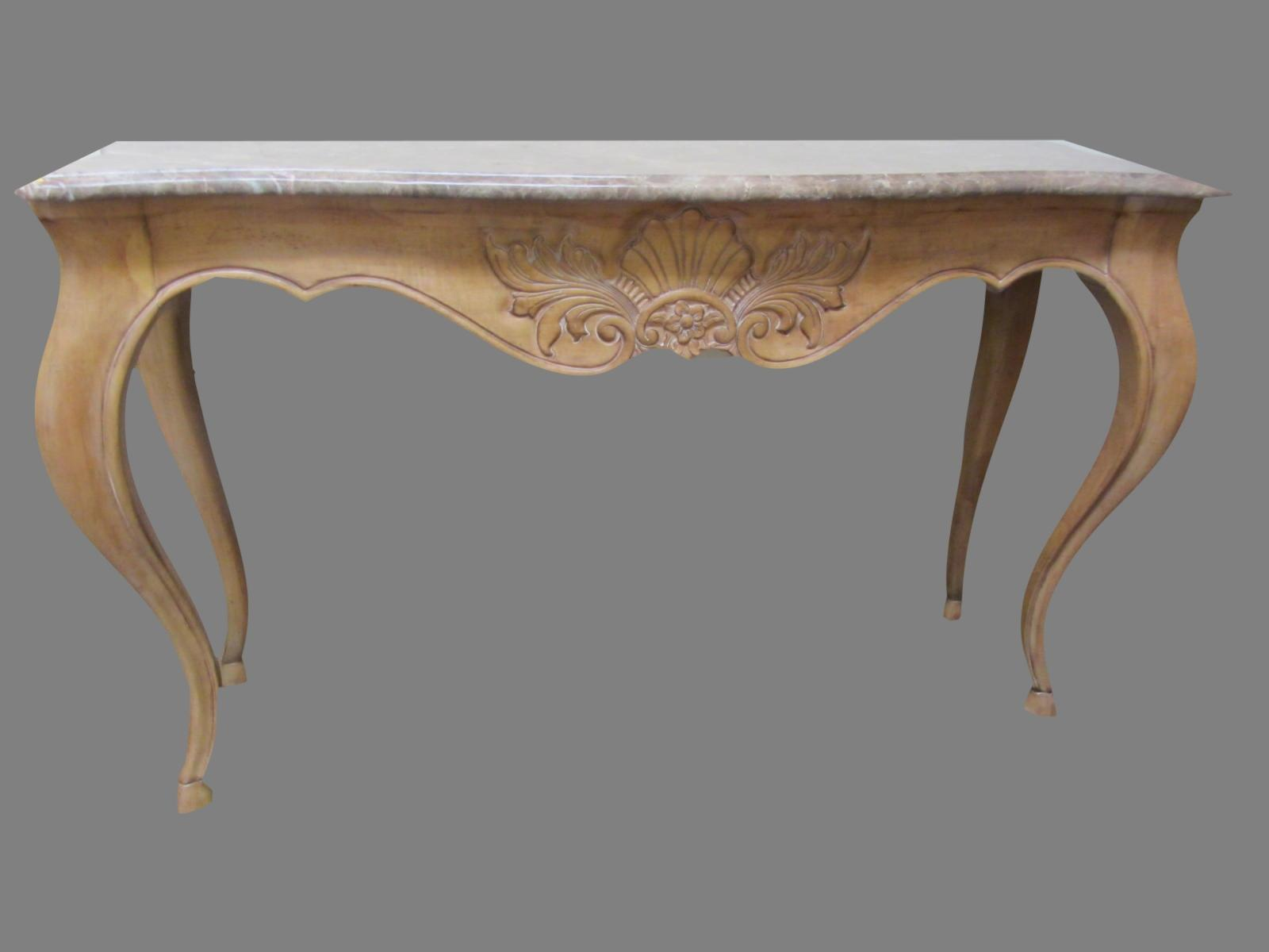 French Country Style Marble Top Console By Century