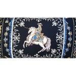 "Image of Custom Hermes ""Ludovicus Magnus"" Silk Pillow"
