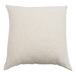 Beige & White Houndstooth Pillow