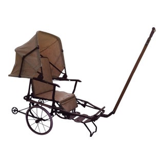 Vintage Canvas Child's Buggy