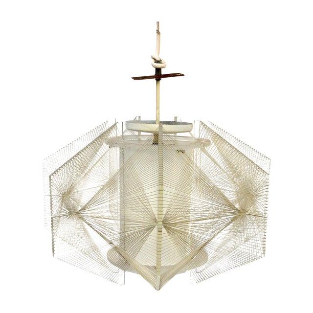 Image of Mid-Century Modern Lucite & String Pendant Light