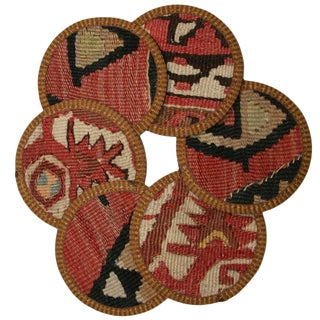 Kilim Tuzla Coasters - Set of 6