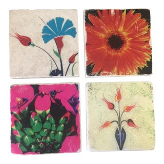 Modernist Flower Coaster Set - Set of 4