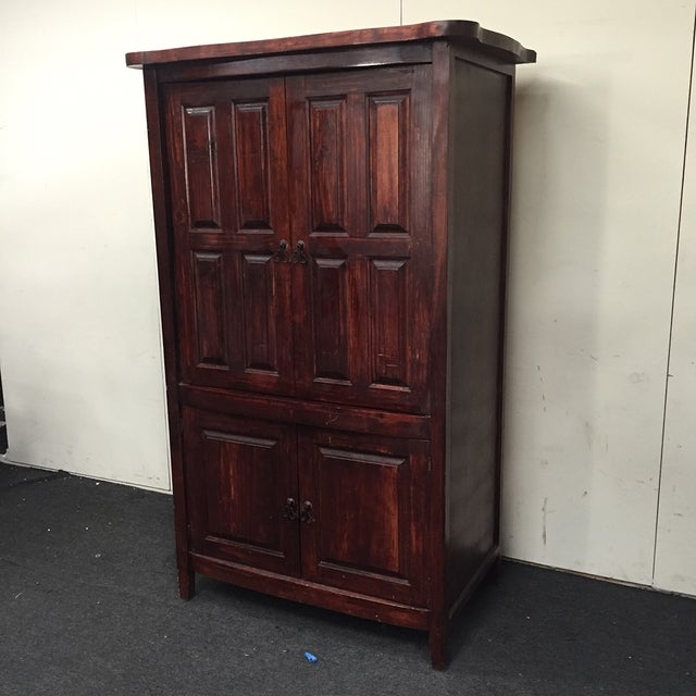 Mahogany Solid Wood 4 Door Armoire - Image 3 of 7