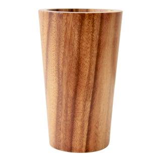 Acacia Wood Desk Pencil Cup