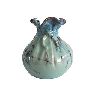 Organic Studio Teal & Purple Porcelain Vessel