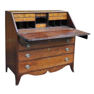 Hepplewhite Slant-Front Desk w/Inlay