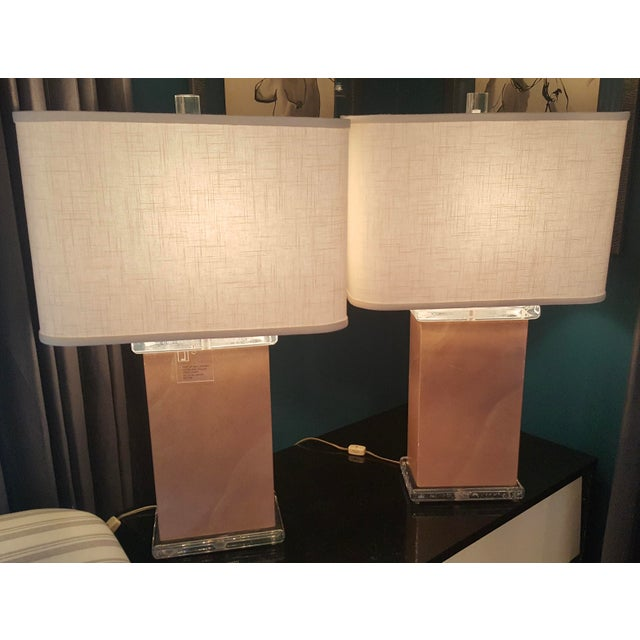 Mid-Century Vellum Table Lamps - A Pair - Image 2 of 7