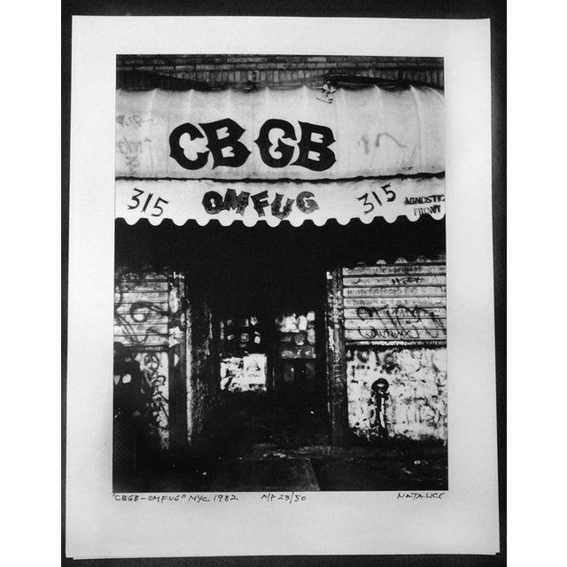 Image of Original CBGB Photo Signed by Photographer