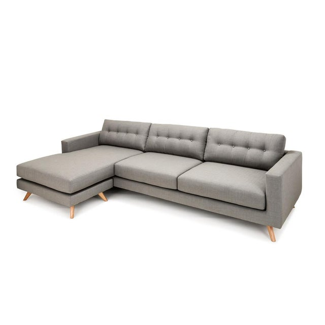 Clad Home Mid-Century Style Grey Sectional - Image 5 of 5
