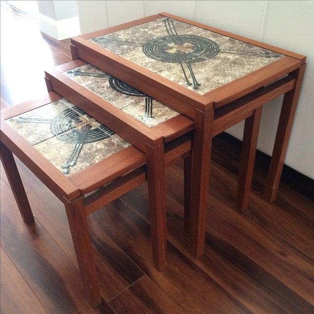 Danish Modern Gangso Mobler Tile Nesting Tables - Image 8 of 8