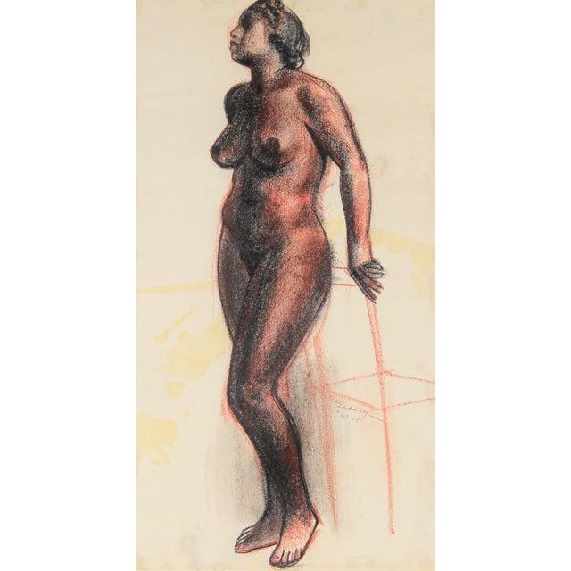 Image of C.F. Seavey Standing Figure Drawing C. 1920s