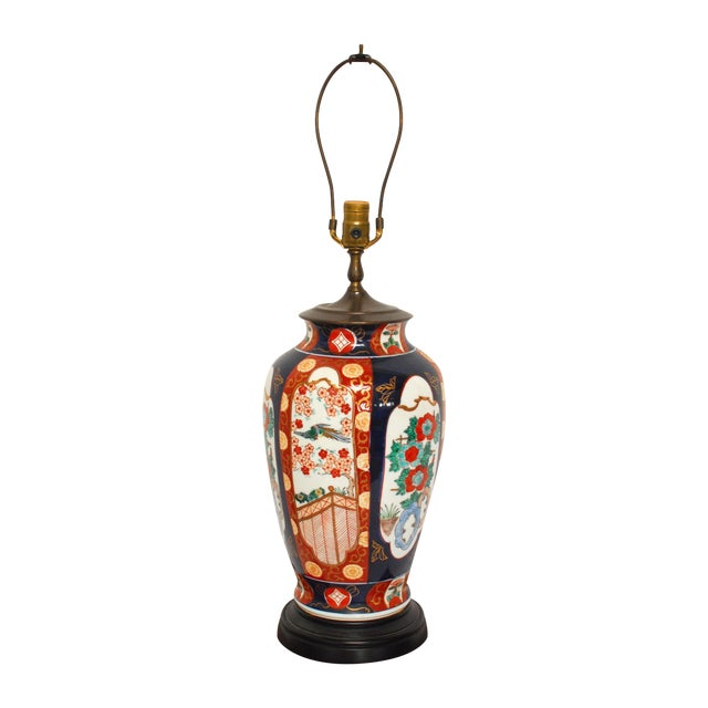 large imari porcelain ginger jar table lamp chairish. Black Bedroom Furniture Sets. Home Design Ideas
