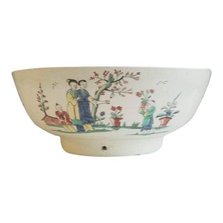 Creamware Pottery Sailor's Farewell Bowl