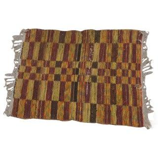 Swedish Hand Woven Rag Rug - 2′6″ × 3′4″