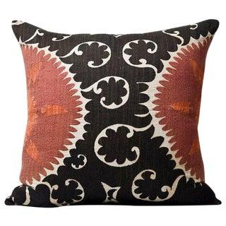 Oversize XXL Vintage Suzani Pillow Circa 1950s