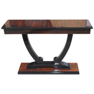 French Art Deco Macassar Ebony Console Tables