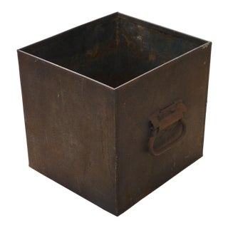 Industrial Iron Cachepot